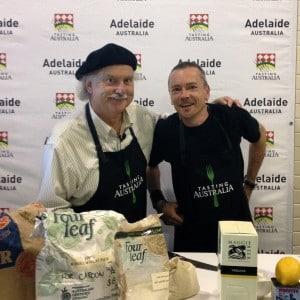 Ian Parmenter and Simon Bryant at Tasting Australia  2012 launch