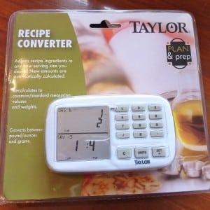 Electronic recipe converter