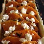 Cheesey Heirloom Pumpkin & Garlic Tart
