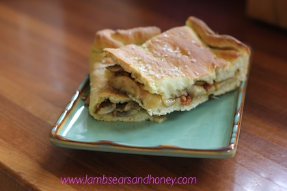 Mushrooms Go Pink In October A Bacon And Mushroom Focaccia Recipe Lambs 39 Ears And Honey A