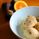 Orange Blossom Fig & White Chocolate Ice Cream – wicked!