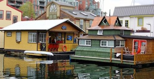 Houseboats, Victoria, Vancouver Island