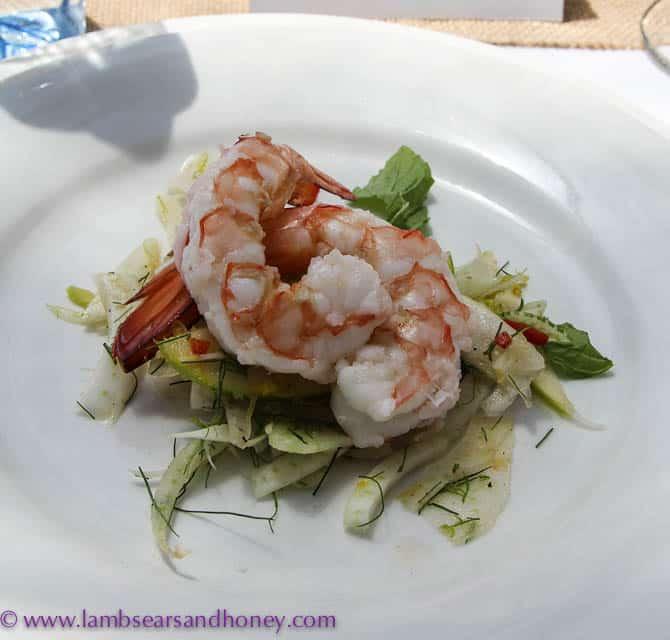 Spencer Gulf prawns, Premium Pavillion Degustation Lunch