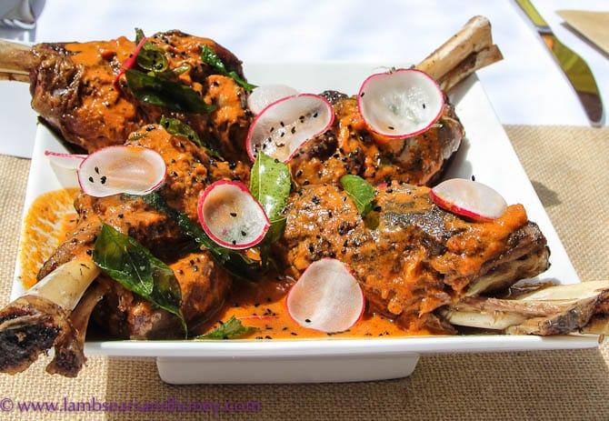 Premium Pavillion Degustation Lunch Hay Valley Lamb shanks