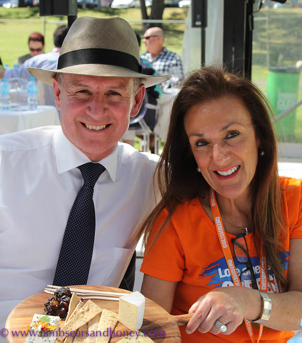 CheeseFest Director Kris Lloyd, SA Premier Jay Weatherall