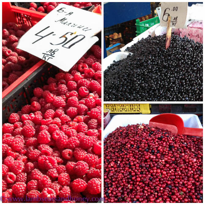 Fresh berries at Sofia's Women's Market