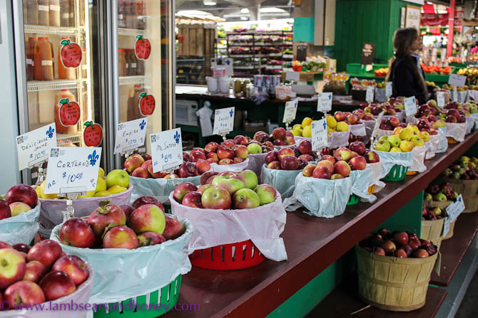 apples at Jean Talon Market, Montreal