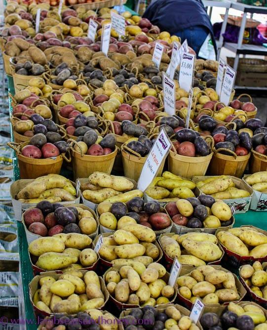 Jean Talon Market, Montreal potato stall