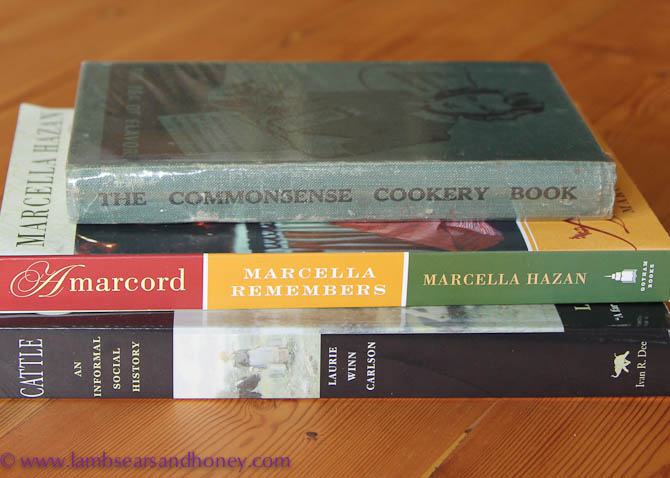 Books from Books for Cooks, in my Kitchen