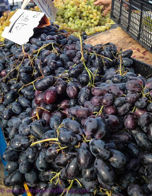 grapes, the size of small plums - Women's Market, Sofia