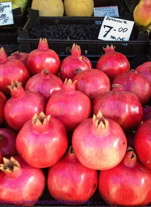 pomegranates, Sofia Night Markets