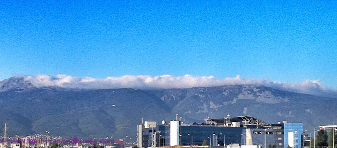 The mountains behind Sofia