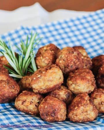 Dukkah chicken bites
