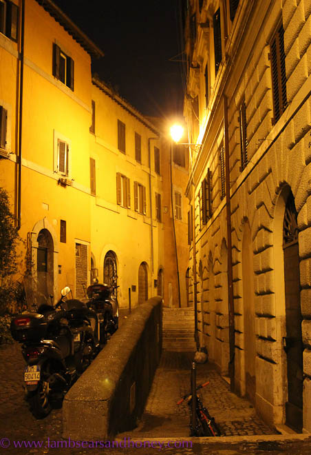 The back streets of Trastavere, Rome
