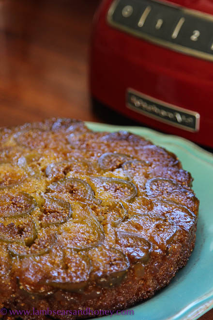 Upside Down Fig and Ginger Cake