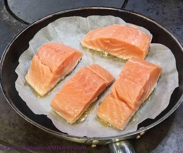 salmon accompaniment for lemon ricotta ravioli