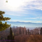 Wish You Were Here Postcards – A Wintry View from Alhambra Palace, Granada, Spain