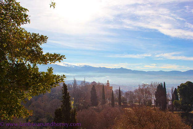 Post image for Wish You Were Here Postcards – A Wintry View from Alhambra Palace, Granada, Spain