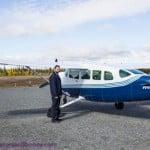 Flightseeing the Kluane Glaciers in Kluane National Park, Yukon Territory