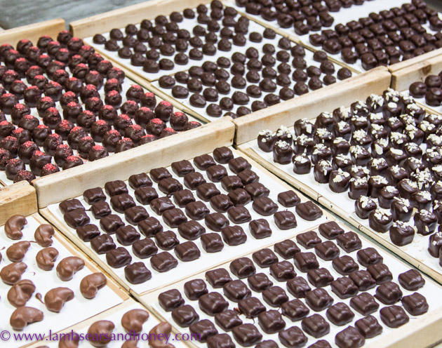 Chocolate at Chocolats Andrée, Montreal.