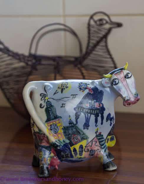 Ceramic cow In My Kitchen