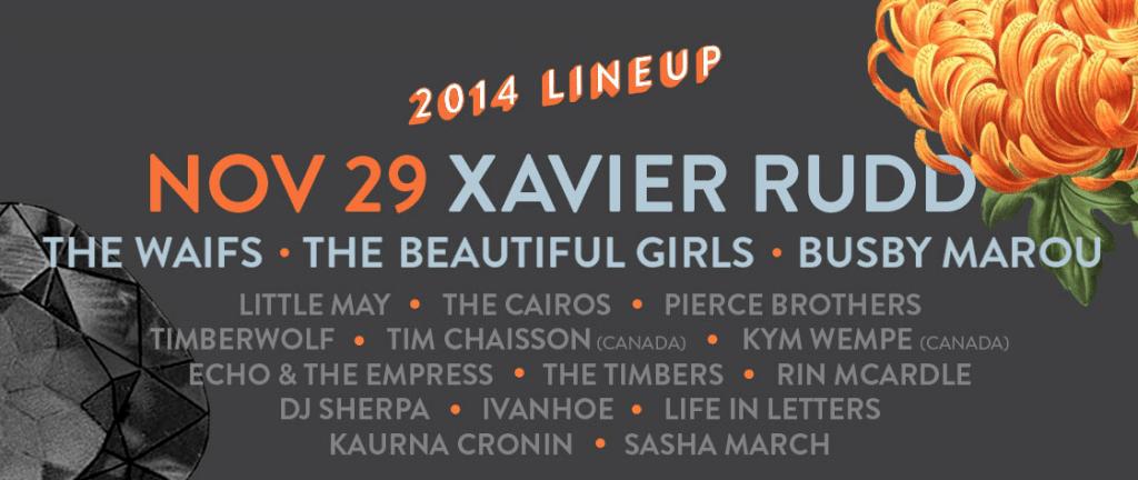 Gorgeous Festival 2014 lineup.