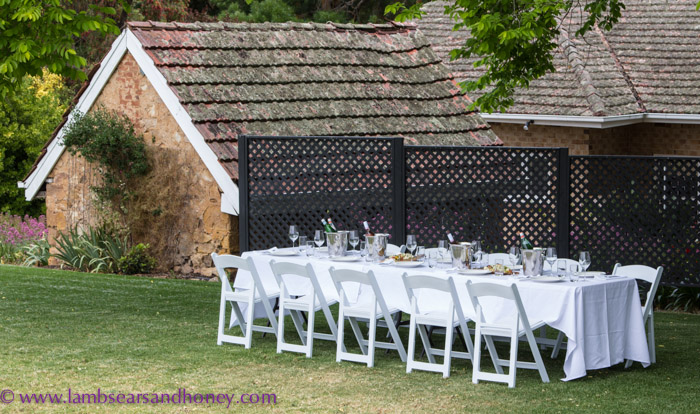 Our long table lunch at Howard Vineyard, Adelaide Hills