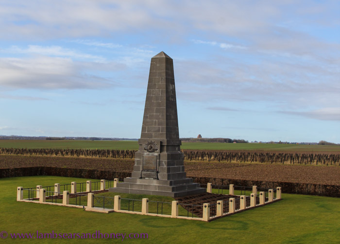 The First Australian Division memorial at Pozieres.