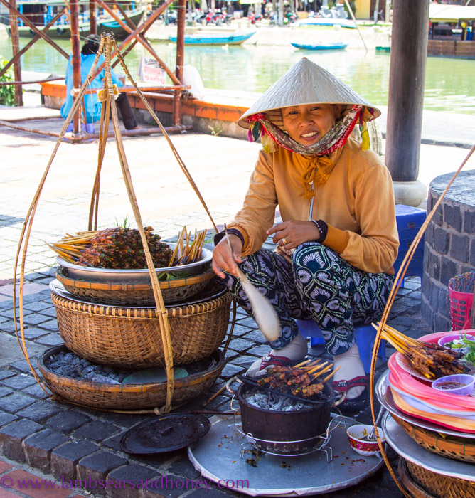 Street food vendor, Hoi An, Vietnam.