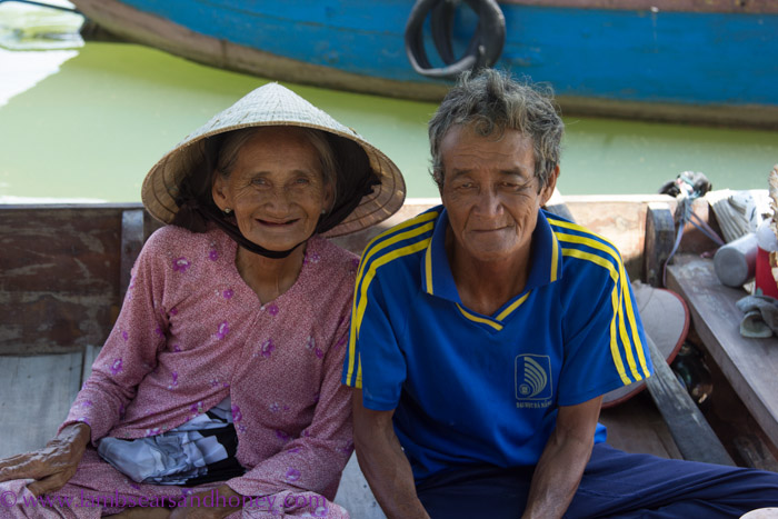 Fabulous faces - boat drivers, Hoi An, Vietnam.