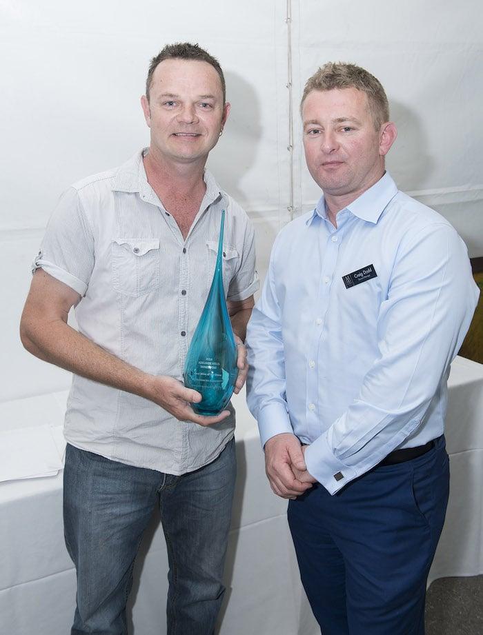 Winner -  Kym Schroeter, White Winemaker from Penfold's , Craig Dodd Mount Lofty House