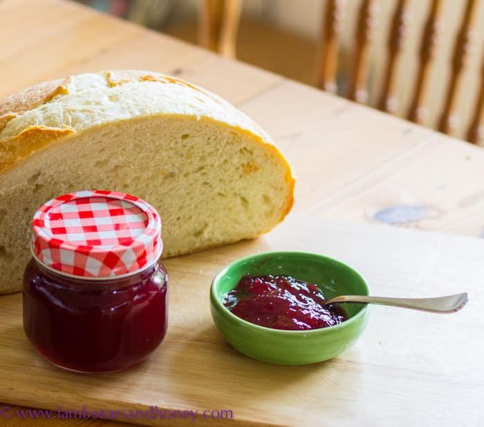 Cherry & Cointreau Jam with my home-made sourdough.