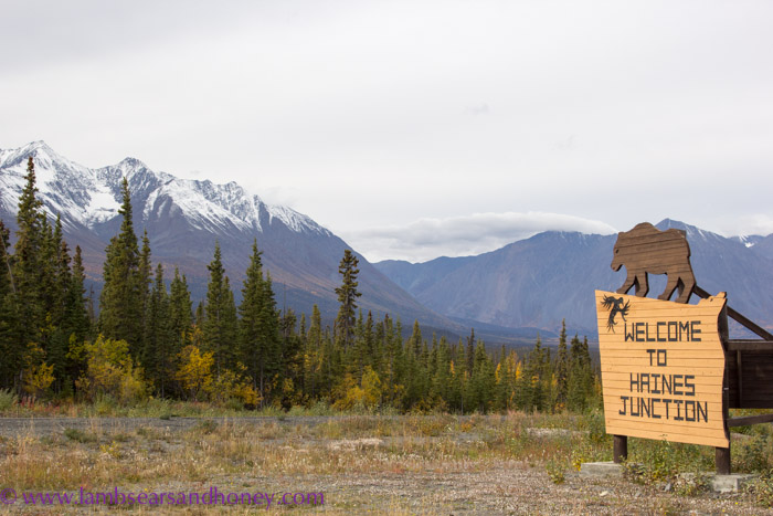 Haines Junction welcome, Yukon.