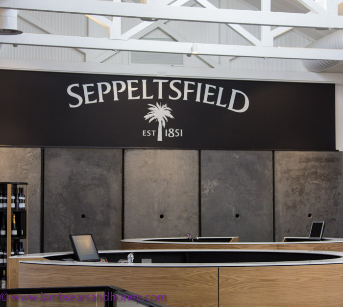 The unique separate, circular service alcoves of the tasting area at Seppeltsfield.