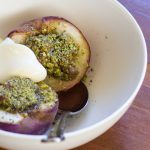 Pistachio & Rosewater Roasted Peaches
