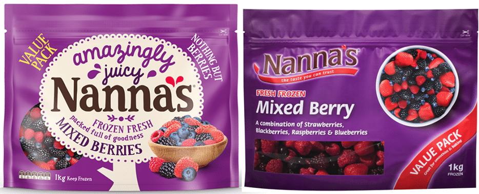 Nanna's frozen berries