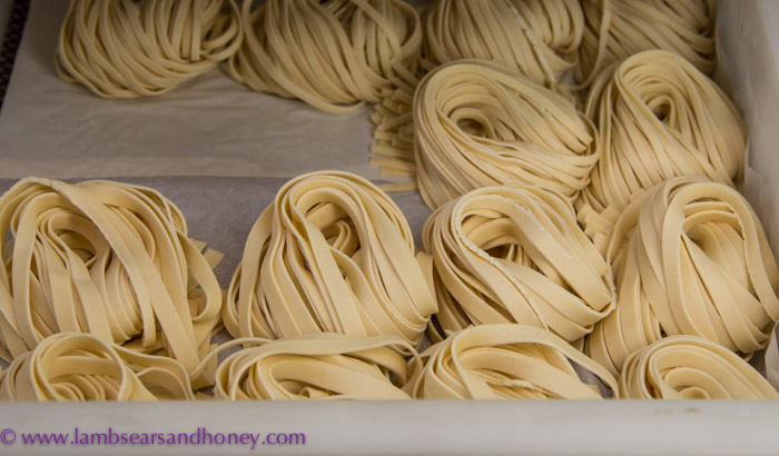 Central Market Tours - Lucia's homemade fresh pasta.