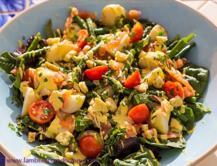 Smoked Salmon Salad with Saffron Mayo