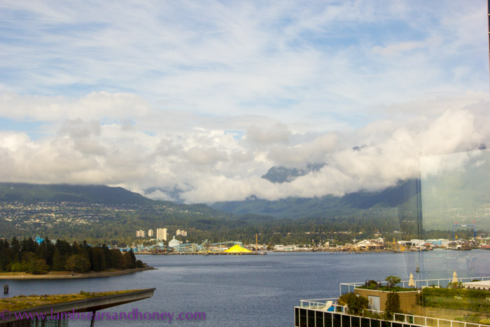 Views to die for, Corner room, Fairmont Waterfront, Vancouver