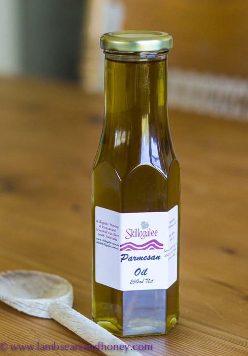 Parmesan oil from Skillogalee Winery