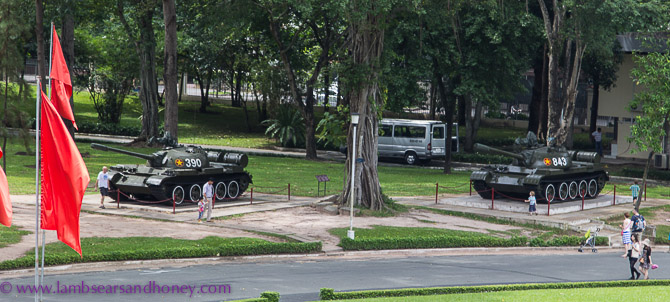 Same tanks - different day. Independence Palace, Ho Chi Minh City