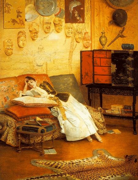Georges Croegaert (1848-1923) The Reading Woman