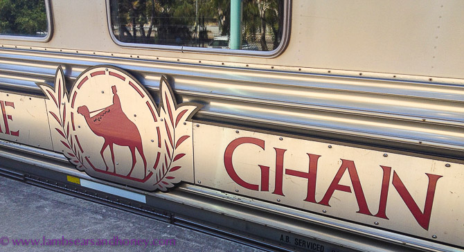 Great Southern Rail's legendary train - The Ghan. World famous train travel.