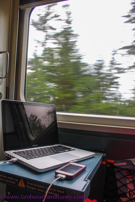 Try getting this much space to get some work done while you're flying. Only on train travel.