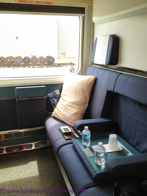 VIA Rail Canada train travel - a comfy double berth cabin.