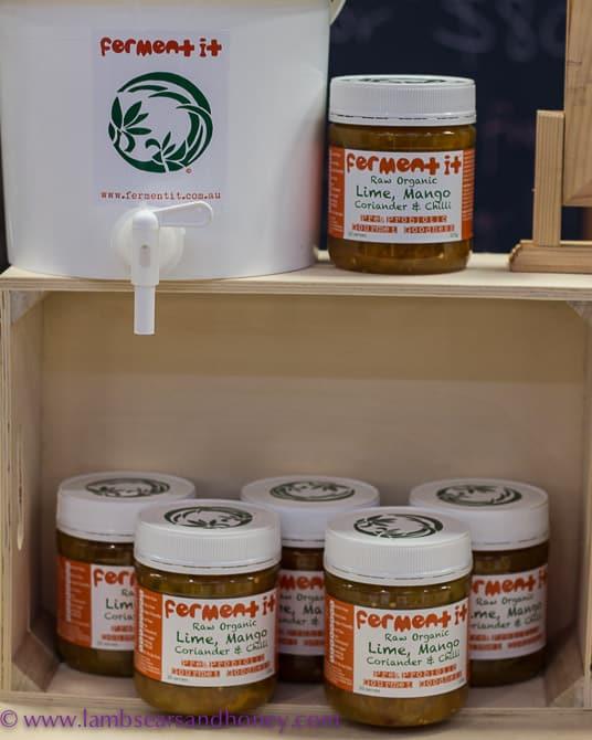 Raw, organic fermented courmet food range from Ferment It - Eveleigh Farmers Market