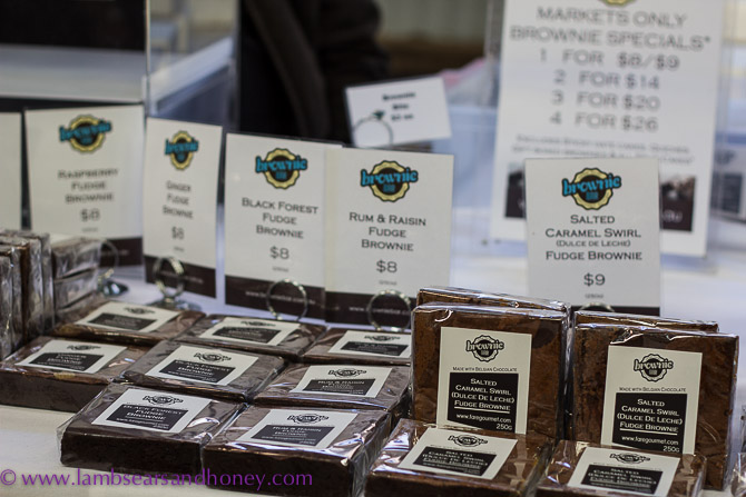 Be still, my beating heart! An entire stall devoted to brownies - Eveleigh Farmers Market.