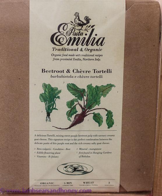 Beautifully designed labels at Pasta Emilia - Eveleigh Farmers Market