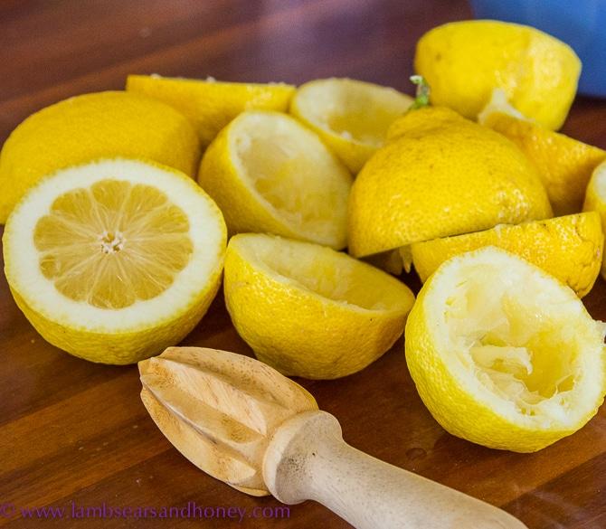 lemons for lemon ginger crisps