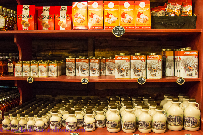 Maple syrup products from Cabane à sucre l'En-Tailleur